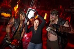 Gloria Estefan…chainsaw wielding maniac?