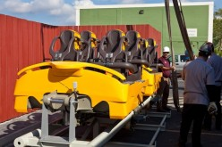 Trains for Cheetah Hunt arrive at Busch Gardens