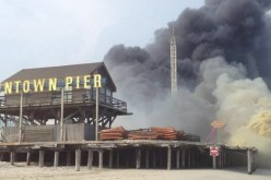 SeaSide Park boardwalk, piers and amusement parks threatened by fire