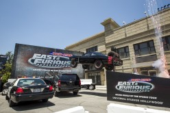 Fast & Furious Supercharged rolls into Universal Studios Hollywood with star studded explosion!