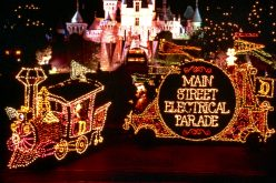 Main Street Electrical Parade leaving Magic Kingdom, heading to Disneyland
