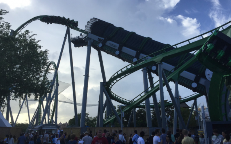 Incredible Hulk Coaster soft opens at Islands of Adventure