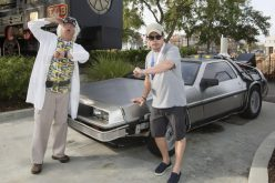 This is heavy-Michael J. Fox returns to Back to the Future Delorean