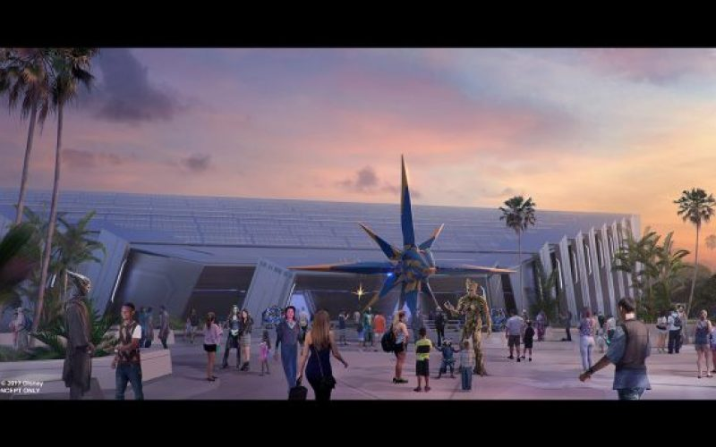 D23 Japan: New look at Guardians of the Galaxy Coaster